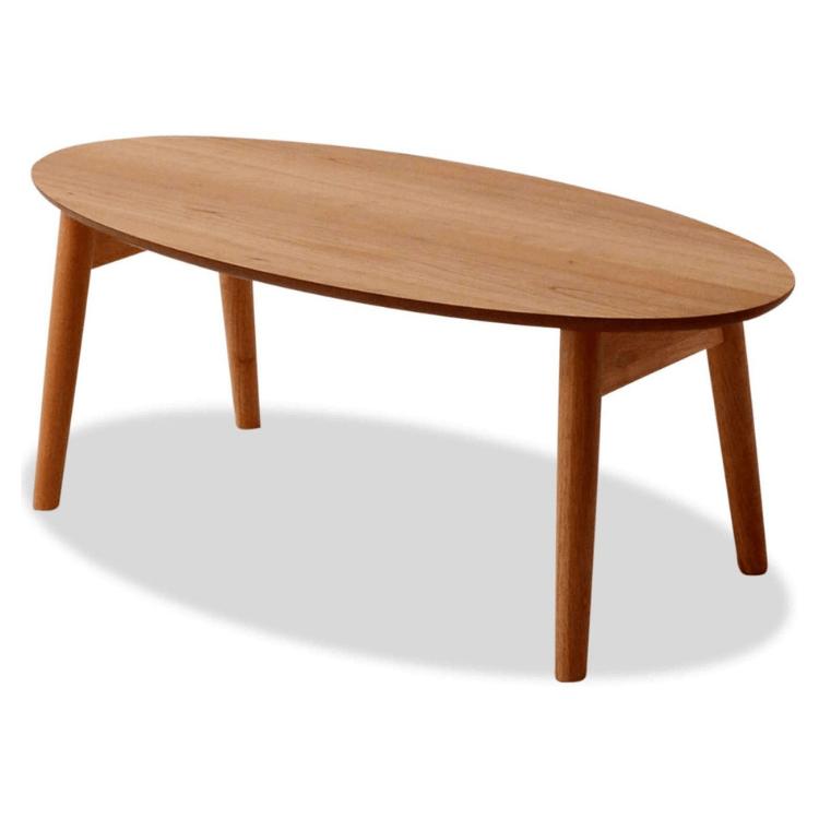 EMOOR Wood Folding Oval Coffee Table