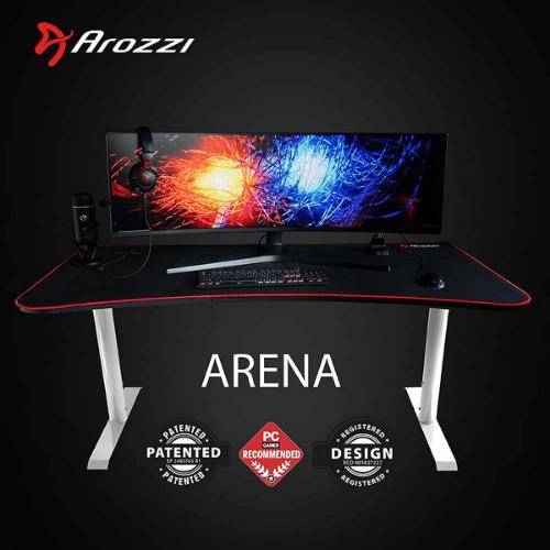 Arozzi Arena Gaming Desk – White